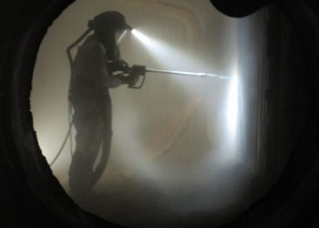 Polar IceTech OilFired Boiler Cleaning Dry Ice Blasting